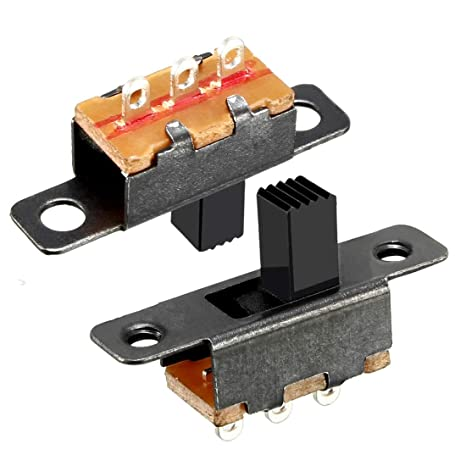 uxcell/® 10Pcs 5mm Vertical Slide Switch SPDT 3 Terminals PCB Panel Latching