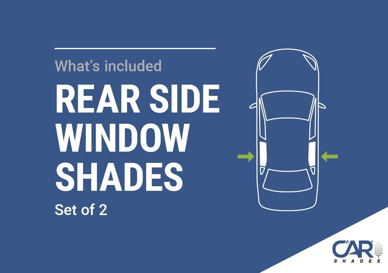 Tailored Fit UV Car Shades Rear Door Set of 2 VW Passat Estate 2015 onwards