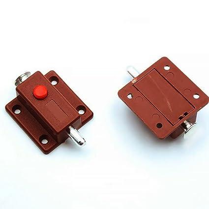 2pcs Cabinet Automatic Button Latch Cabinet Cupboard Door Latch Lock