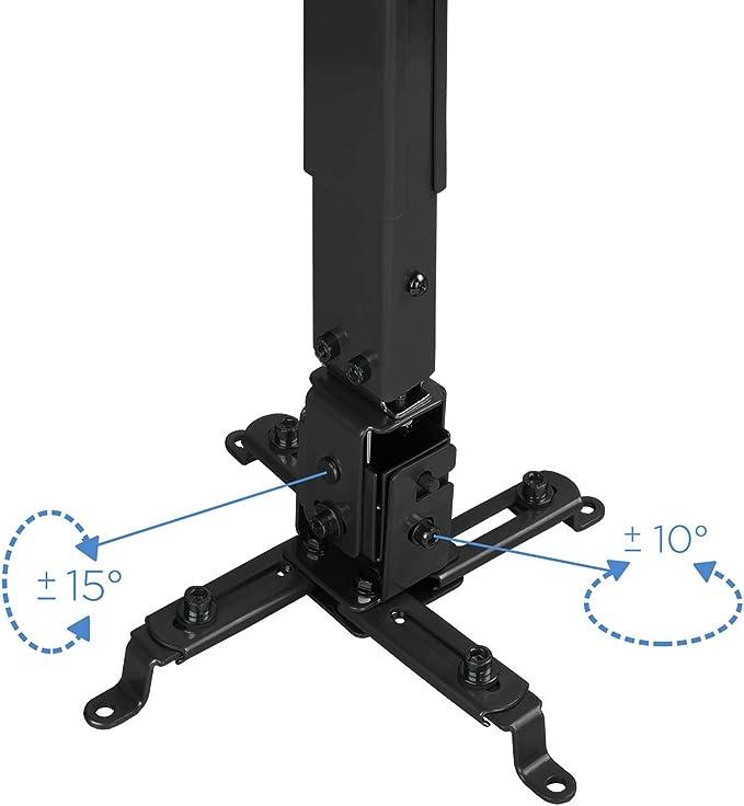 TooQ PJ2012T-B - Soporte de techo inclinable y regulable para ...