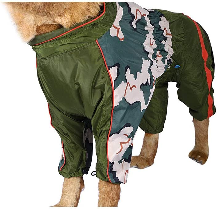 M Minjie Dog/Raincoat/Waterproof/Windproof/Lightweight/Rain/Jacket/for/Different/Size/Dog/Camouflage/Color