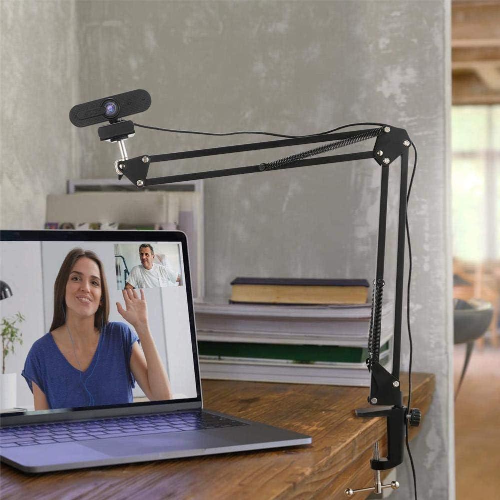 Webcam Soporte 14 Pulgadas suspensi/ón de los Brazos de Tijera Brazo de Soporte con Base Compatible para la grabaci/ón de v/ídeo en Vivo