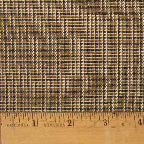 Walnut Brown Cotton Homespun Plaid Fabric by JCS - Sold by The Yard