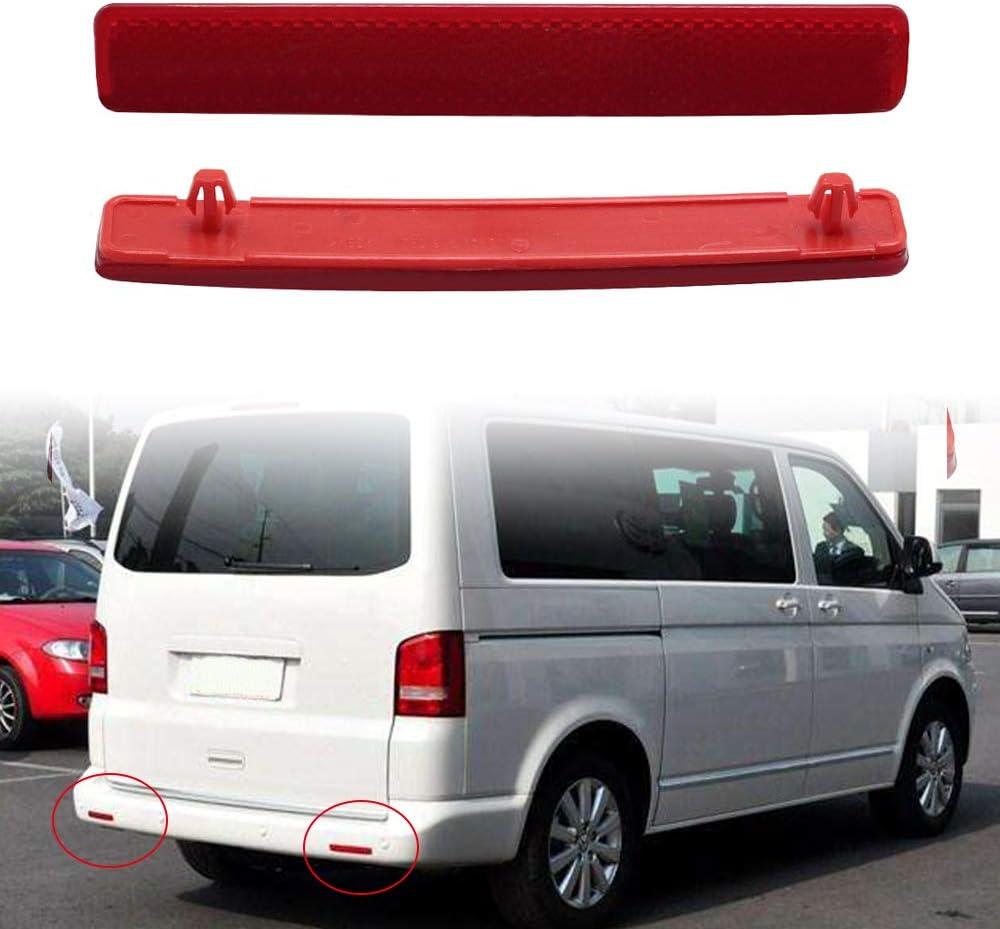 Ajcoflt Reemplazo para VW Transporter T5 2003-11 Lente roja OEM Parachoques Trasero Reflector Asamblea Luz L R