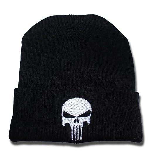 efb93c42 Punisher Logo Beanie Fashion Unisex Embroidery Beanies Skullies Knitted  Hats Skull Caps