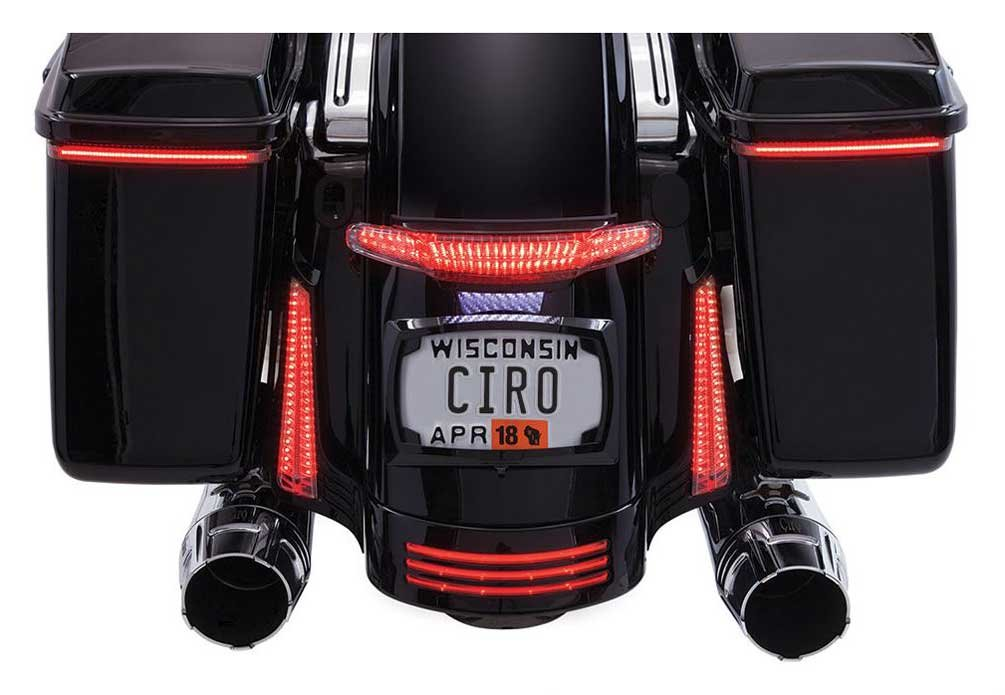 Ciro Latitude Tail Light & License Plate Holder - Black, Fits '10-'13 by Ciro