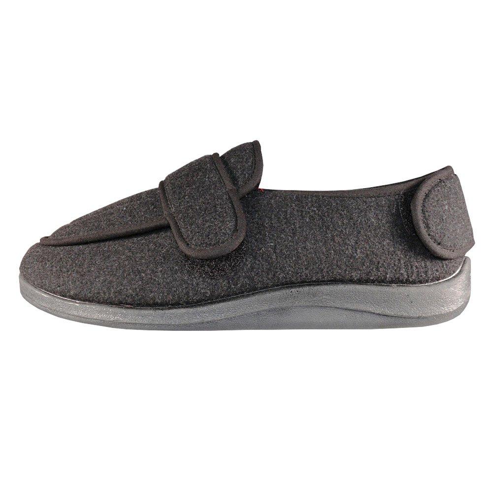 Foamtreads Men's Extra-Depth Wool Slippers,Charcoal,11.5 W US