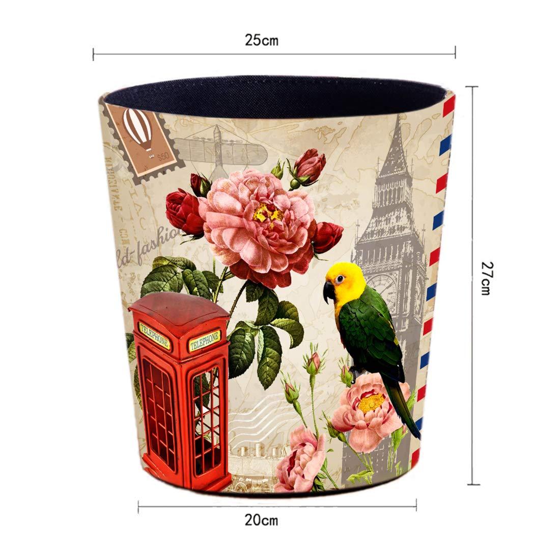 Salon conteneur de d/échets /étanche 25 x 20 x 27cm Poubelle Corbeille /à Papier pour la Maison Toucan YOU339 10L Poubelle en Cuir Bureau