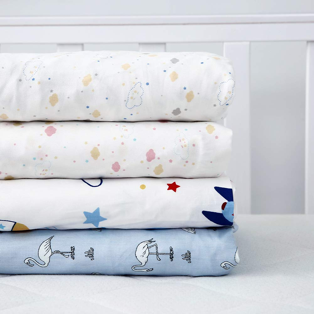 Cok Fitted Crib Sheet 1 Pack, Flamingo 100/% Cotton Breathable Cozy and Hypoallergenic Baby Crib Sheet for Standard Crib and Toddle Mattress.