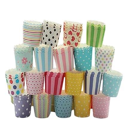 Mackur Cup Cake Embalajes Back Moldes Papel Liner Taza Cupcake Muffin Hornear para Boda Fiesta de