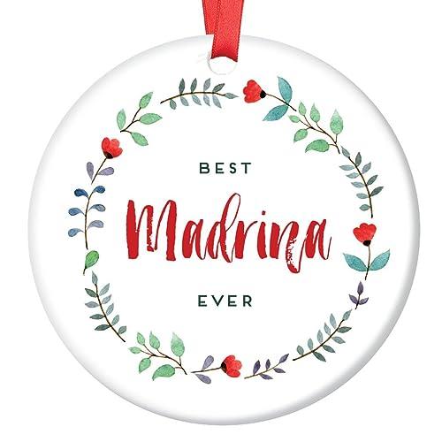 Amazon.com: Madrina Ornament, Spanish Godmother Christmas Ornament ...