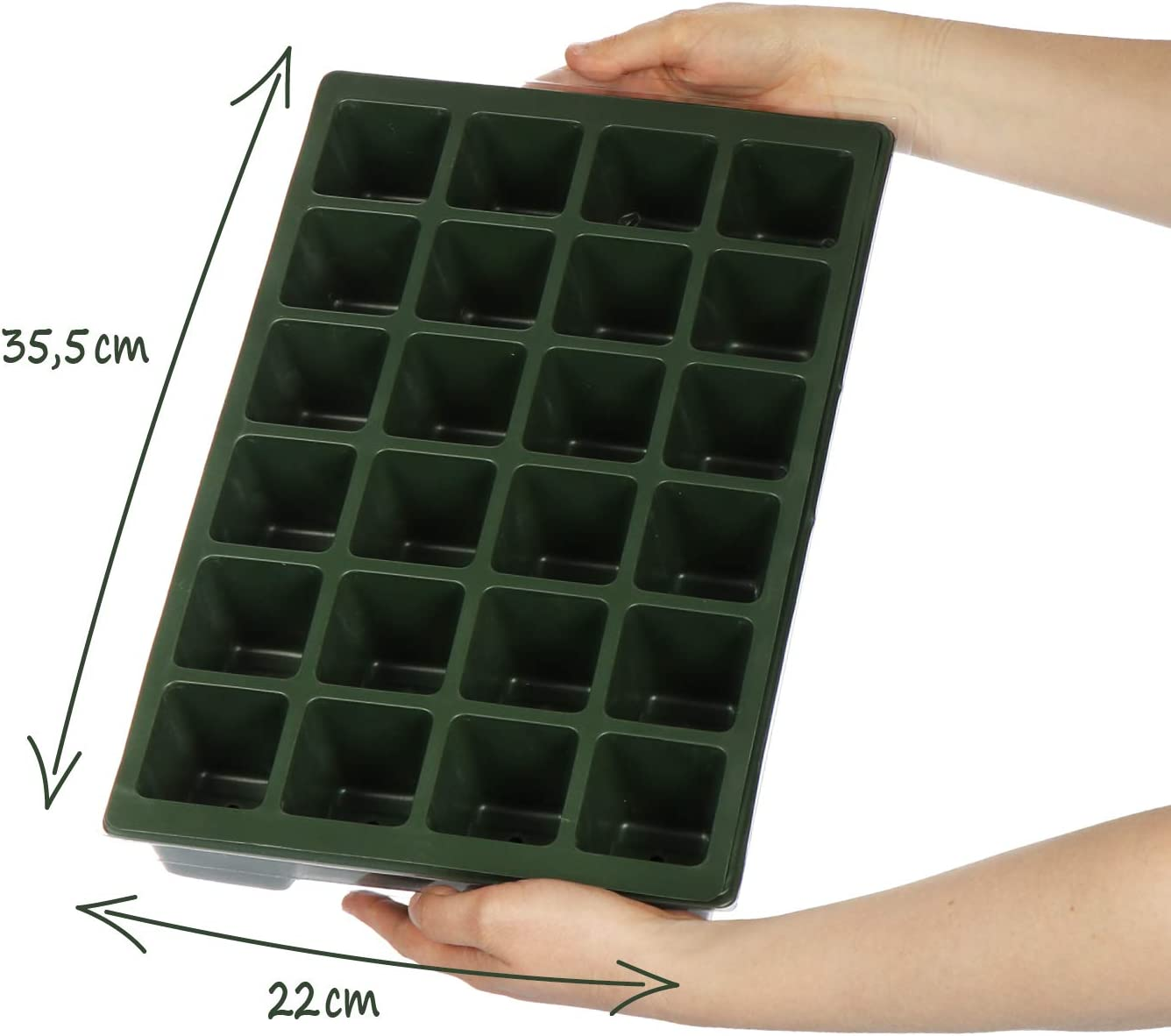 2 Piezas - Caja de Planta 54x14.5cm com-four/® 2X Caja de Cultivo para Cultivar un Total de 40 pl/ántulas: Conjunto de Cultivo para el balc/ón con ba/ñera Tapa y 40 macetas