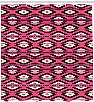... primitiva Tribu estilo Art patrones de natashia Lunt decoradas con diseño de zigzag y abstracto, cuarto de baño Set de decoración de tela con ganchos, ...