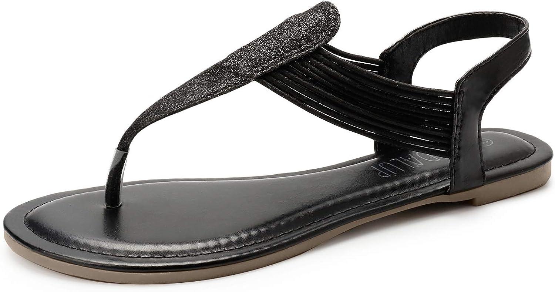 Details about  /SANDALUP Women/'s Elastic Flat Sandals
