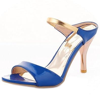 Zanpa Damen Mode-Event Stiletto Heels Mules Sandalen