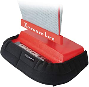 "Bumper Guard for Upright Vacuums (Fits Compact Vacuums: Front Width: 11"" to 13"", Side Depth: 3.5"" & Up)."