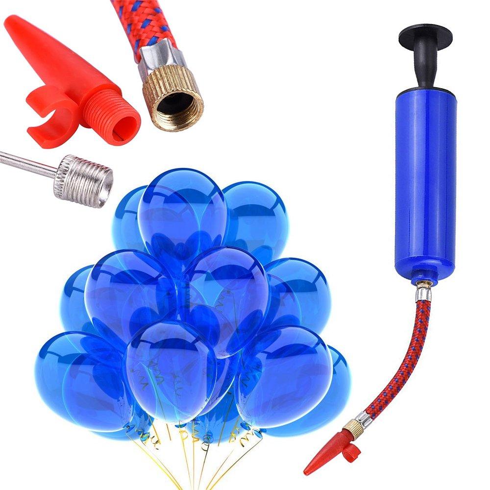 boquillas de agujas Juego de manguera de goma para baloncesto Balones de f/útbol rugby Hermao Bomba de bola de inflador voleibol