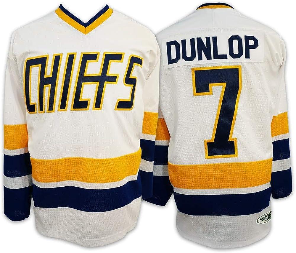 Custom Reggie Dunlop #7 Slap Shot Charlestown Chiefs Hockey Jersey S-6XL