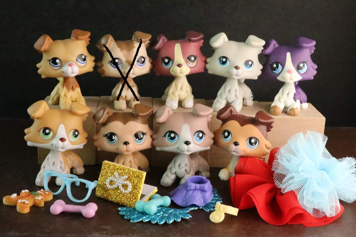 Ualps lps Collie Set 893 58 1262 363 2210 lot lps Figure Collectable For Kids