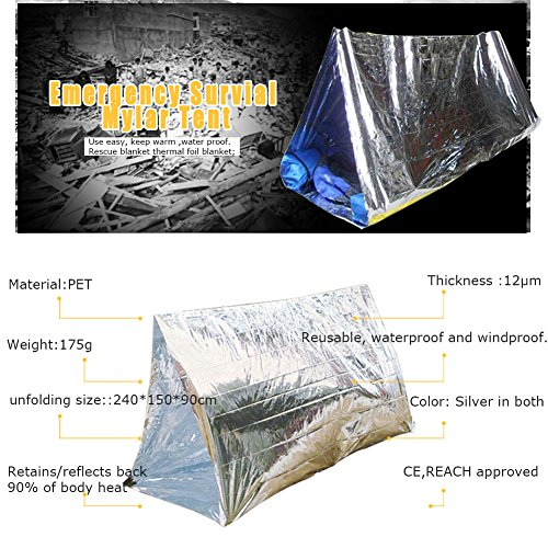 Previous · / Next  sc 1 st  Bug Out Expert & Emergency Tube Tent 2 Person Mylar Thermal Camping Shelter ...