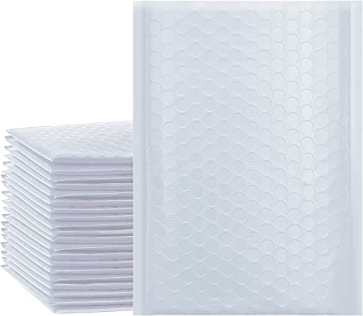 White /& Gold Padded Envelopes Bubble Lined Jiffy Postage Bags ALL SIZES /& QTYs