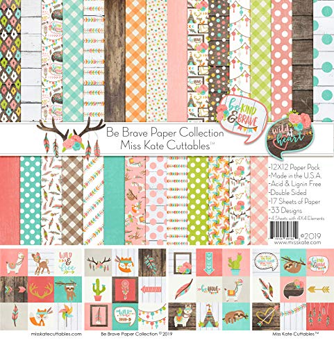 Pattern Paper Pack - Be Brave - 17 Double-Sided 12
