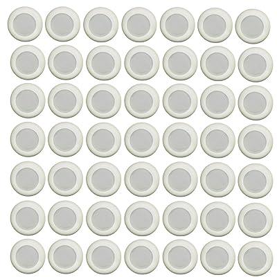 Refill Disc Darts 100PCS Gun Blasters for NERF Vortex Praxis NITRON VIGILON Proton-- Glow at Dark Bullets - White: Toys & Games