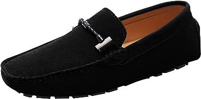 ANUFER Mens Elegant Buckle Loafers