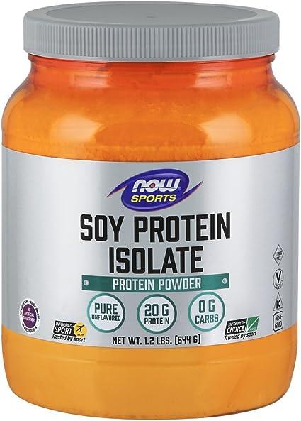 Now Foods Aislado de proteína de soja, sin sabor - 544G 680 g