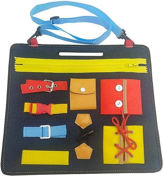Tablas de Vestir Tablero Fieltro Montessori Aprenda a Vestir Juguetes educativos: Cremallera, Botón, Hebilla, Encaje, Aprendizaje temprano Habilidades básicas: Amazon.es: Hogar