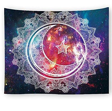 Nebulosa Fondo Luna Galaxia Patrón Tapiz Colgante de pared ...