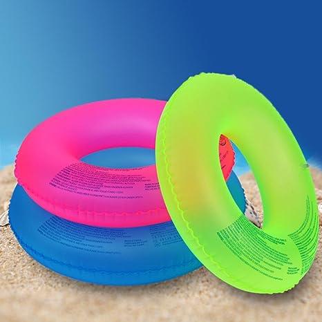 Wensltd flotador flotante Tubo Anillo Playa Serie piscina inflable de juguete niños adultos (color al