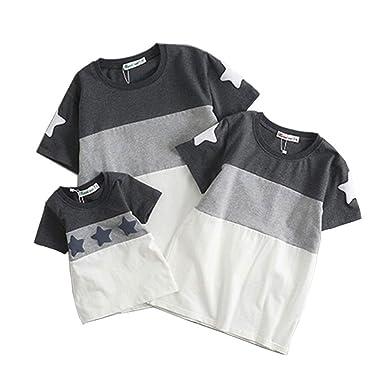 b2681343a21a6 親子お揃い服 tシャツ 夏 上着 レディース キッズ メンズ Tシャツ 柔らかい 半袖