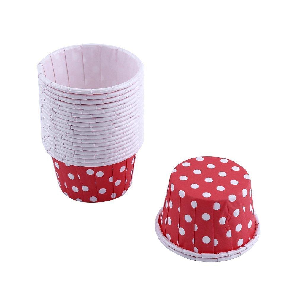 100pcs Baking Cups, Mini Paper Cake Cases, Cupcake Wrappers Cupcake Cases Cupcake Holders Muffin Cups Liners, Cupcake Paper Baking Cases Colour(Blue) Yosoo