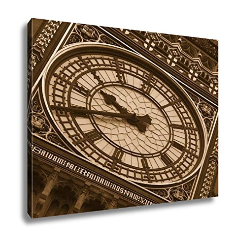 Ashley Canvas Big Ben Clock Face, Kitchen Bedroom Living Room Art, Sepia 24x30, AG5509108 (Clocks Wall Sale London)