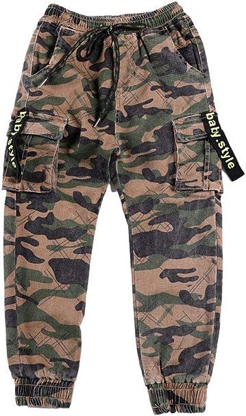 ARAUS Pantalones Niño Joggers Estampado de Camuflaje Pantalón de ...