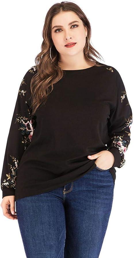 Blusas Camiseta Mujer,🍒 Madeuf 🍒 Mujer Tallas Grandes Moda ...