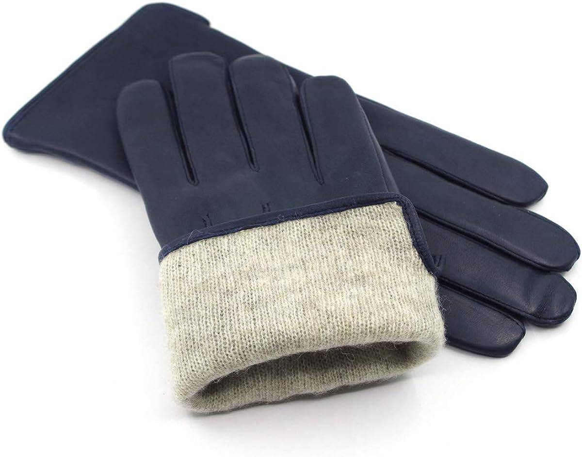 Harssidanzar Herren Luxus Italienischen Schaffell Lederhandschuhe