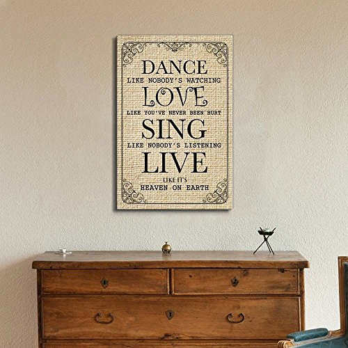 wall26 Dance Like Nobody's Watching Quotes | Canvas Prints Wall Art - 12x18 inches by wall26 (Image #1)