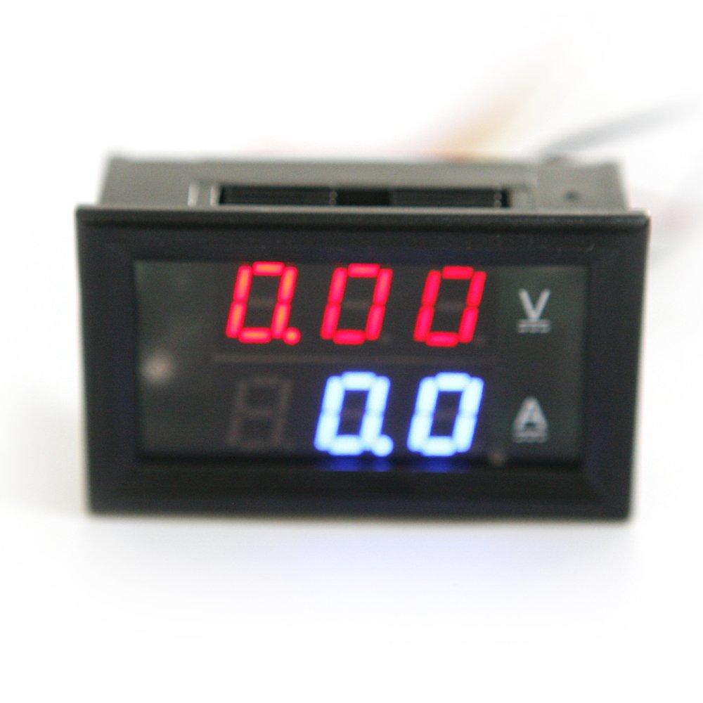 2 in 1 Mini Digital Voltmeter Ammeter DC 100V 10A Panel Amp Volt Current Meter by Isguin