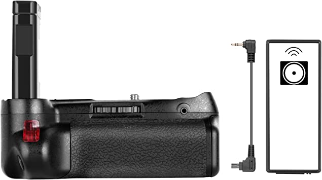 Neewer Professional Vertical Battery Grip Work with EN-EL14A Rechargeable Battery for Nikon D5600 and D5500 DSLR Camera (Battery Not Included)