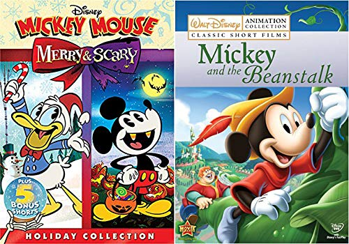 Disney Mickey Holiday And Classics Combo: Disney Mickey Mouse- Merry & Scary + Walt Disney Animation Collection Mickey and the Beanstalk Holiday movie -