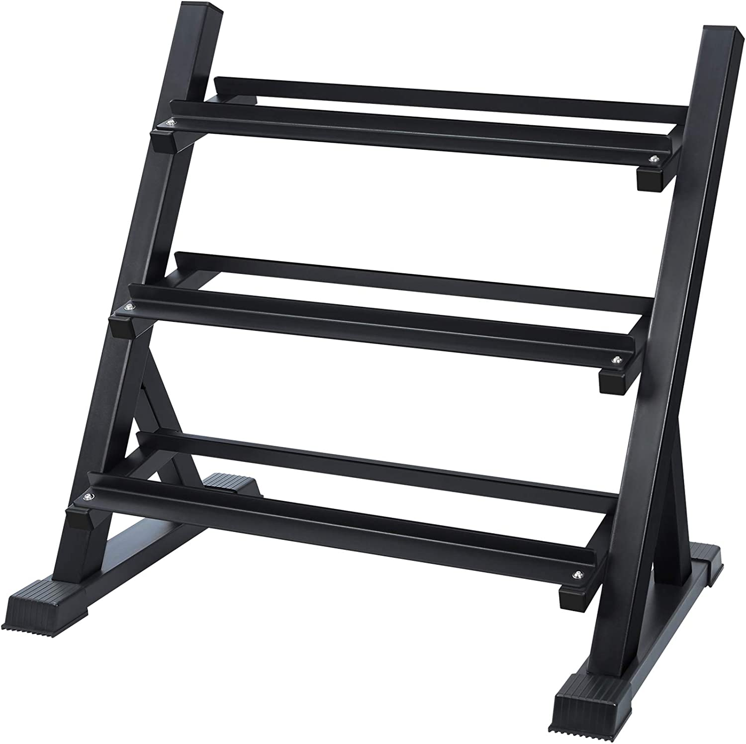 Dumbbell Rack 8.5x7.9x8.7 inch, Black 3 Layer Dumbbell Storage Rack Stand Hand Weight Tower Stand Weightlifting Dumbbell Holder Floor Bracket for Home Indoor/&Outdoor Hand Weight Fitness Training Clearance Sale