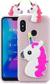 Funluna Funda para Xiaomi Mi A2 Lite, 3D Unicornio Patrón Cover ...