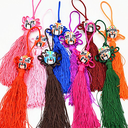 Lime Wedge Costumes (Conjugal Bliss 10PCS Multi-Colors Rainbow Mini Tassels DIY Craft Supplies Jewelry Tassels Auspicious Knot Tassel For Home Bookmarks Gift Windows Walls Doors Decoration Sent At Random (Multicolor))