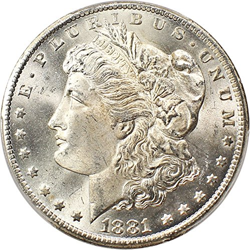 1881 CC Morgan Dollars Dollar MS66 PCGS (David Lawrence Rare Coins)