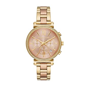 ae7561e69 Image Unavailable. Image not available for. Color: Michael Kors Watches  Womens Sofie Two-Tone ...