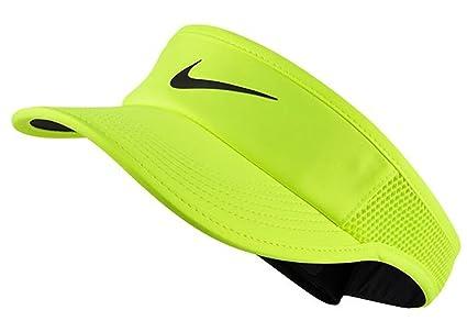 promo code 0fbb9 30f8f Nike Women's AeroBill Feather Light Visor (Volt/Black ...