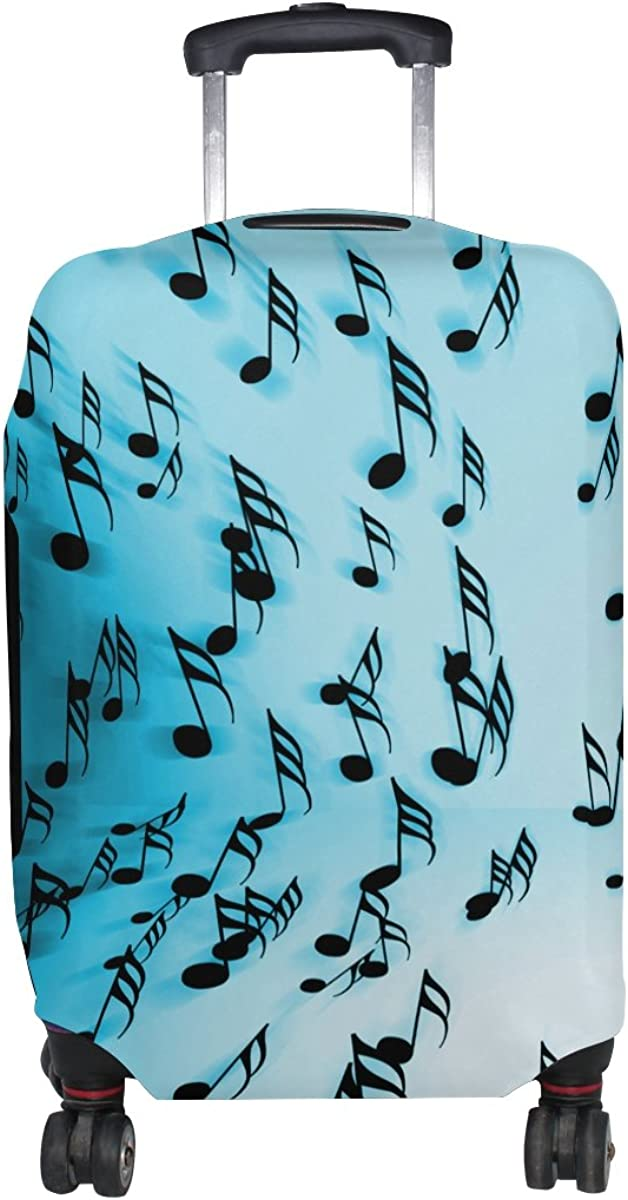 Abbylife Music Notes Luggage Cover Suitcase Protector Fits 18-20//22-24 Inch
