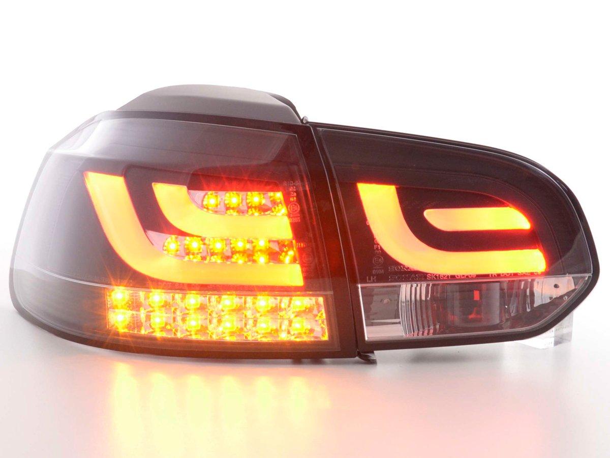 FK Automotive FKRLXLVW013109 Fanali Posteriori Set LED Nero con Indicatori LED